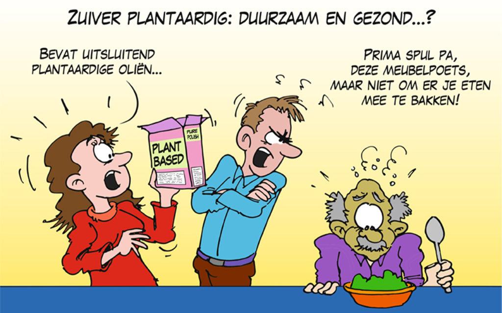 Template Zuivel en Gezondheid - Cartoon Zuiver plantaardig